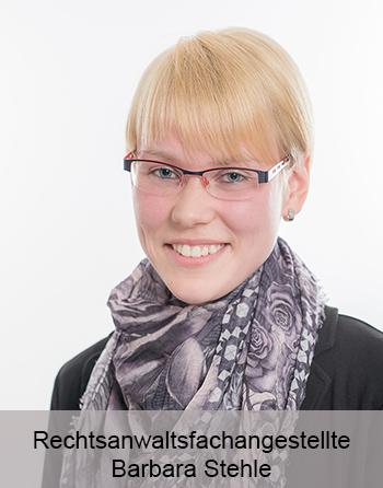 Rechtsanwaltsfachangestellte Barbara Stehle - Sekretariat